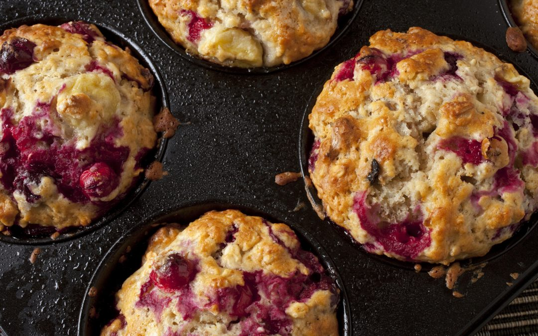 Gluten-Free Mixed Berry Walnut Muffins