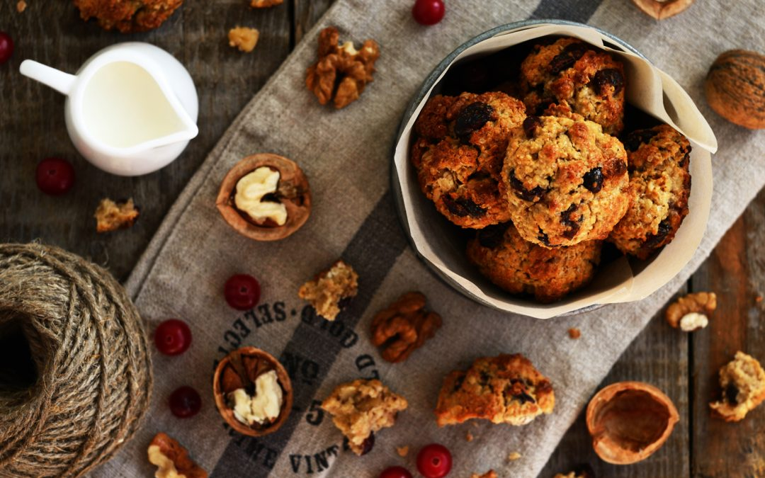 Chocolate Chip Oatmeal Cookies with Superseeds, Walnuts and Cranberries