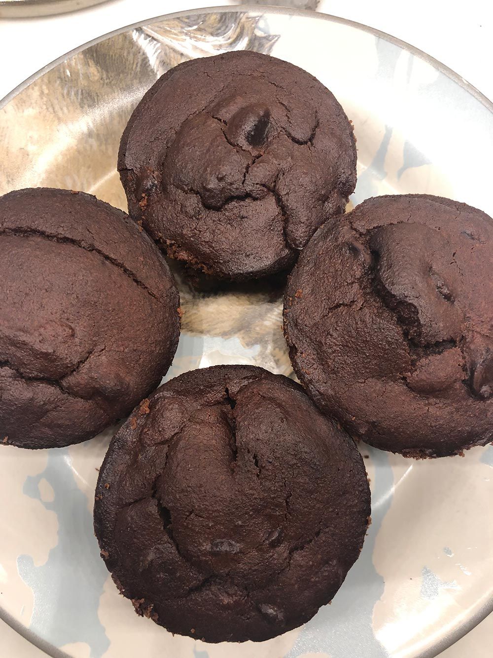 Sunday chocolate gluten-free muffins